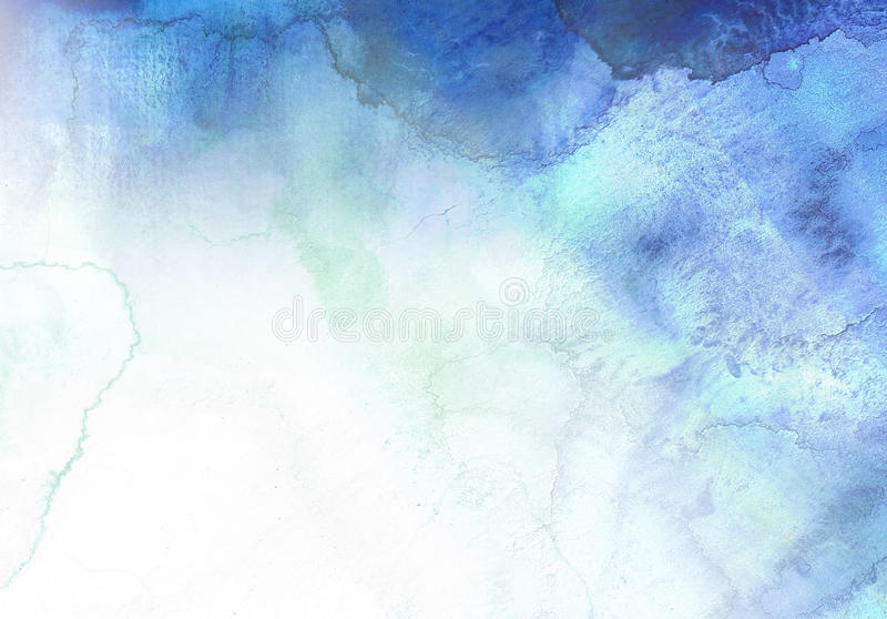 Abstract blue watercolor background vector illustration