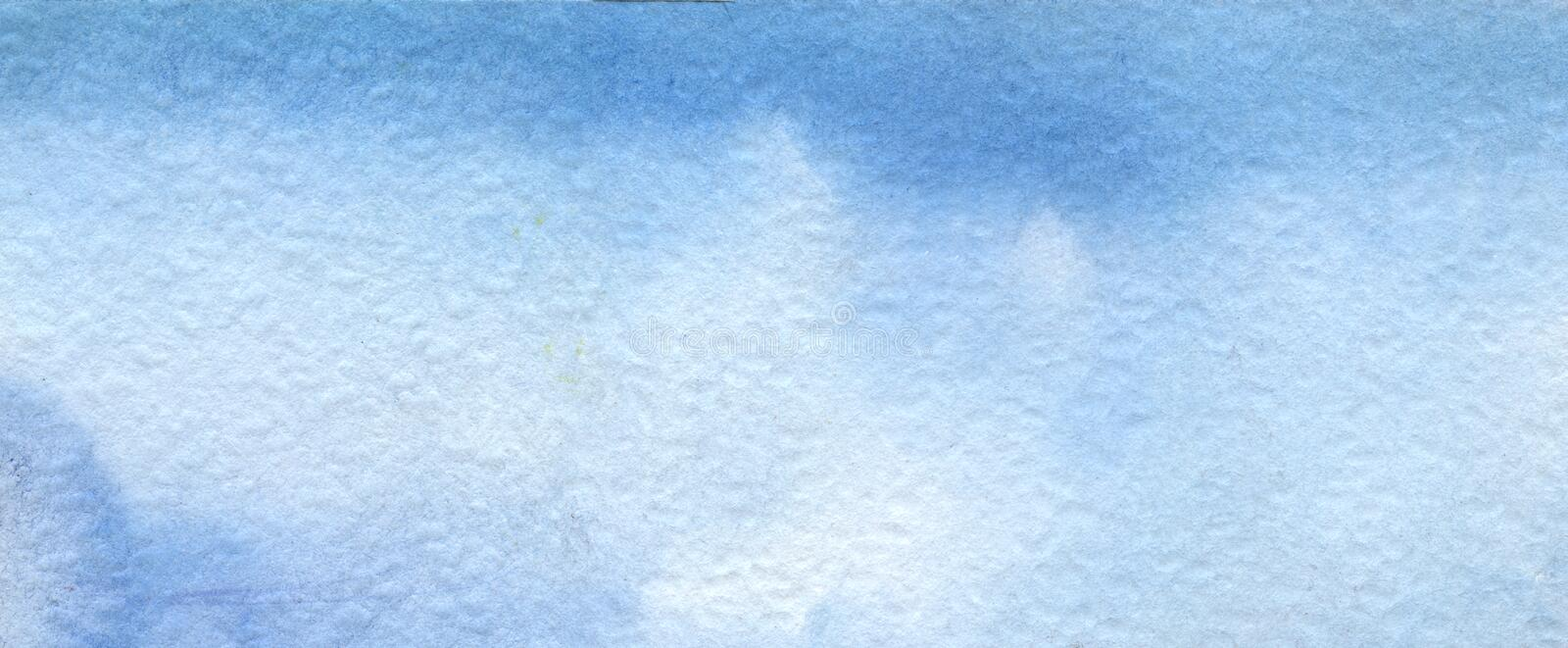 Abstract blue watercolor background. Hand painted on textured paper. Abstract blue watercolor background. Hand painted on a paper royalty free stock image