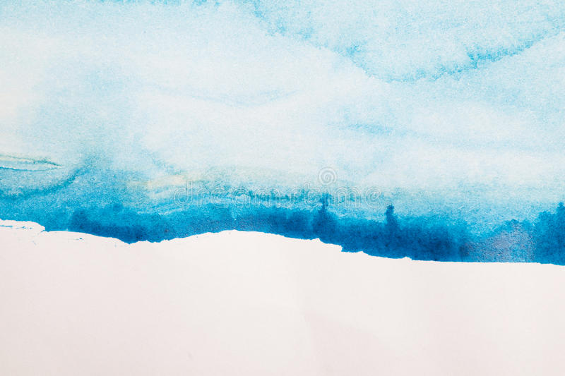 Abstract blue watercolor background. For you design stock images