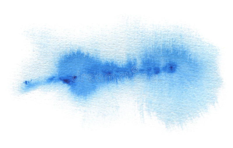 Abstract blue watercolor blot painted background. Texture paper. Isolated stock images