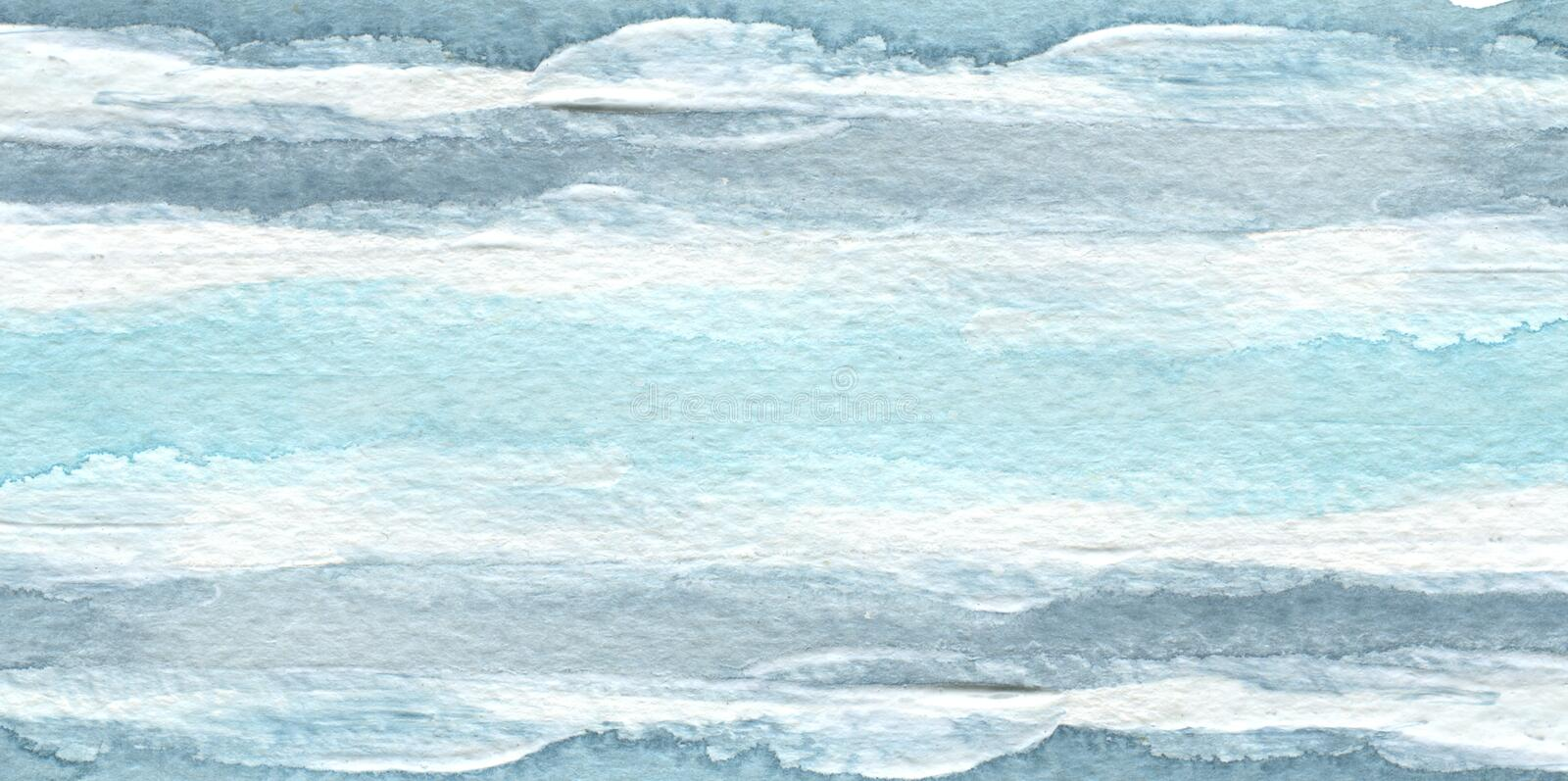 Abstract blue watercolor brush stroke paint background. Texture paper. Isolated stock photos
