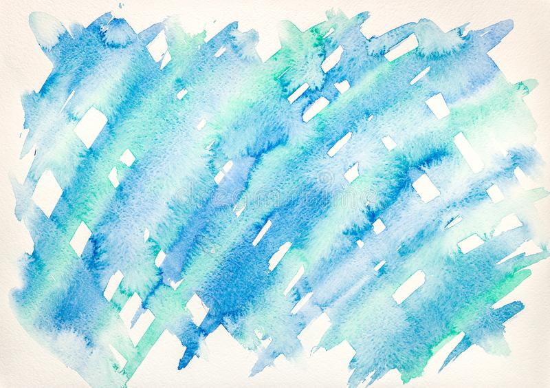 Abstract blue watercolor splash on white background stock image