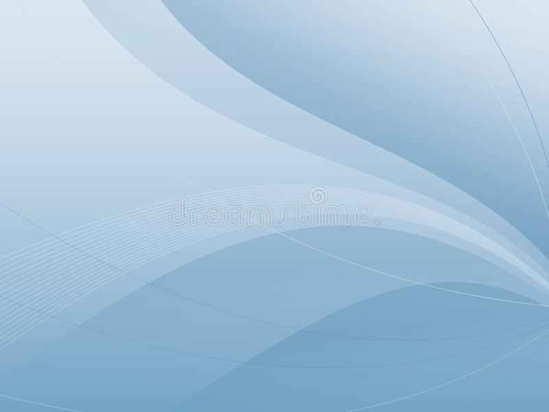 Abstract Blue Wave Background stock illustration