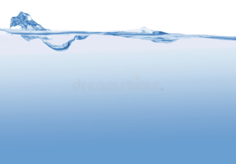 Abstract blue wave background royalty free stock photos