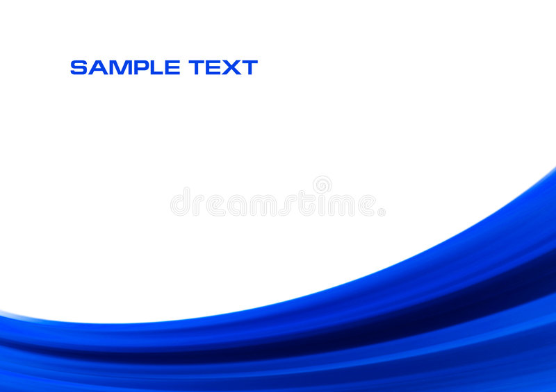 Abstract blue wave background. With space for text