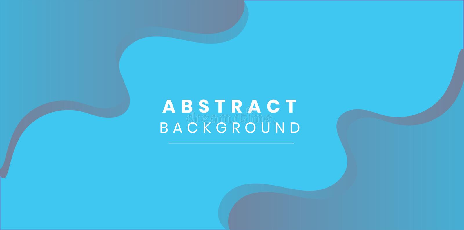 Abstract blue wave background design stock illustration