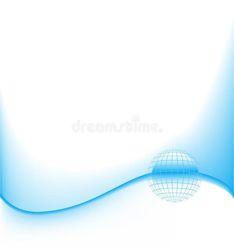 Download Abstract Blue Wave With Globe Stock Vector - Image: 13385746