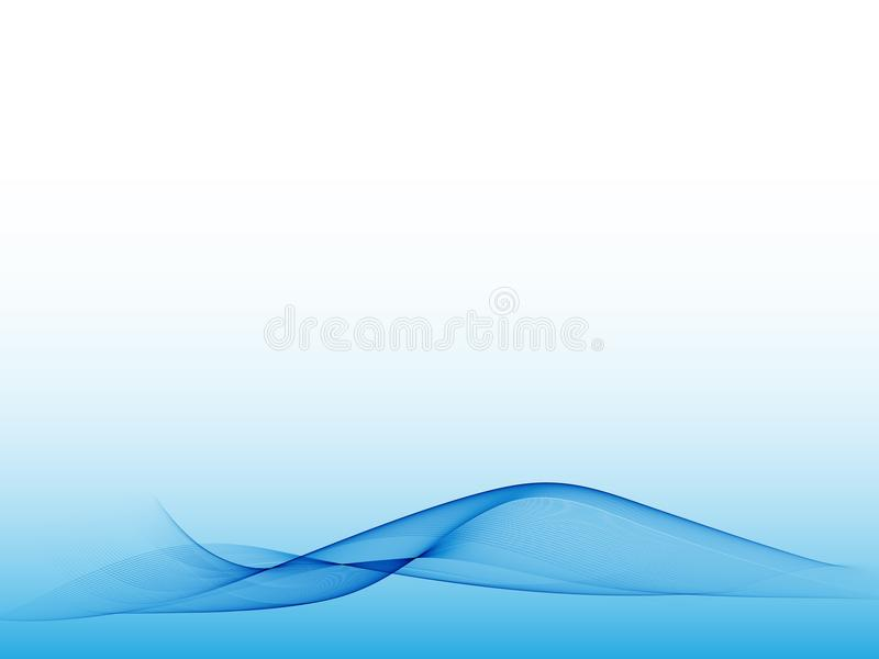 Abstract blue wave on a light background. Design element. Eps10 royalty free illustration