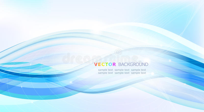 Download Abstract Blue waves. stock vector. Image of creative - 16756034