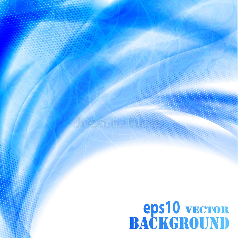 Free Abstract Blue Waves Background Royalty Free Stock Image - 19847046