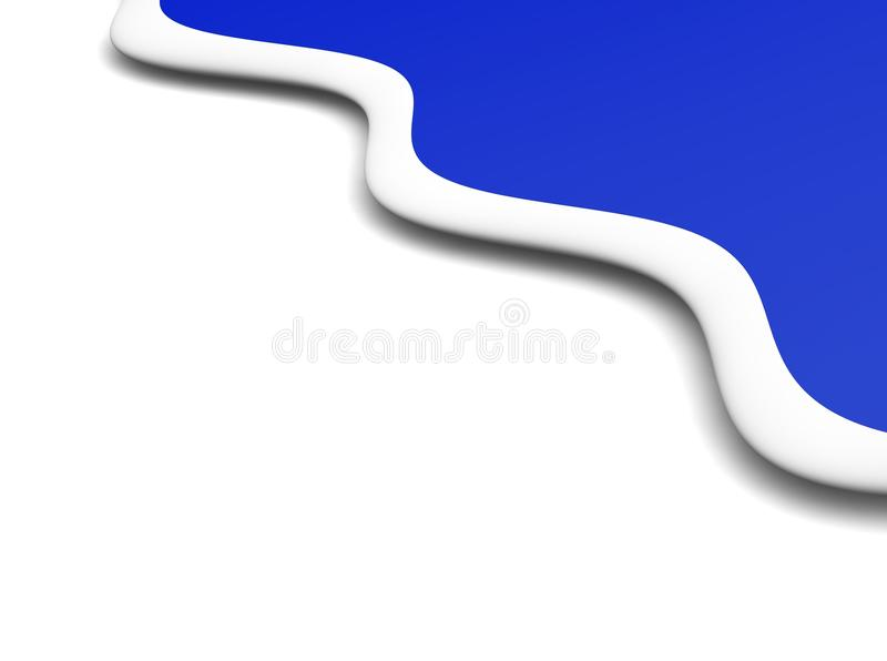 Abstract blue waves background royalty free illustration