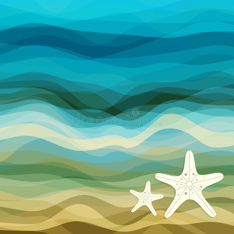 Download Abstract Blue Wavy Background Stock Vector - Illustration: 33881901