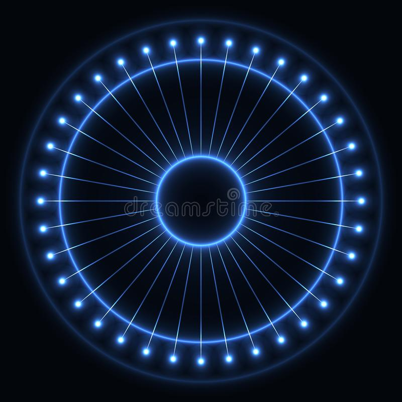 Abstract blue wheel stock illustration