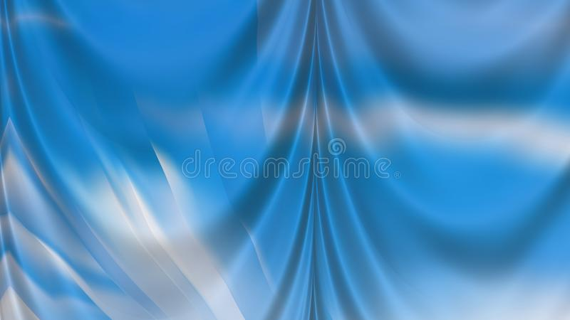 Abstract Blue and White Curtain Background Beautiful elegant Illustration graphic art design Background. Image stock illustration