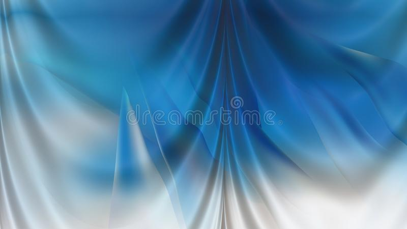 Abstract Blue and White Drapery Background Beautiful elegant Illustration graphic art design Background. Image royalty free illustration