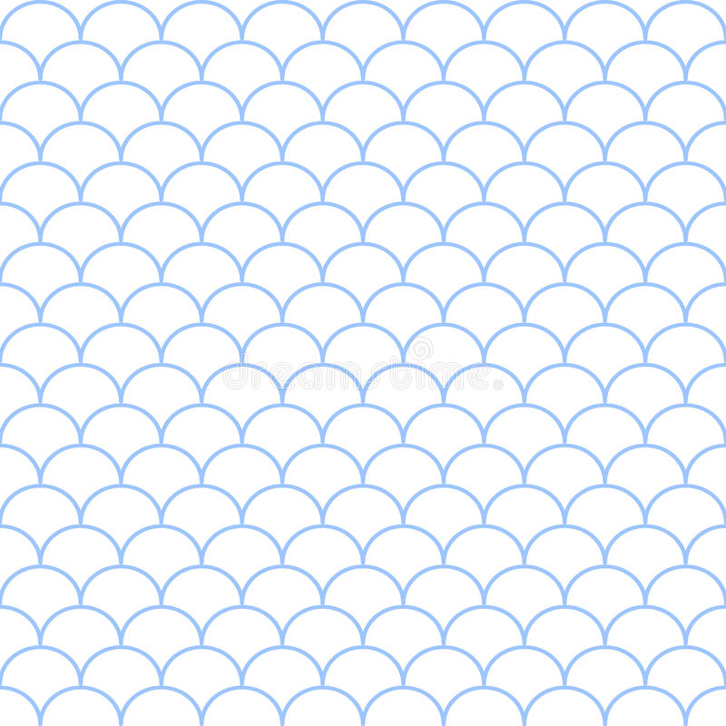 Abstract blue and white seamless wave pattern. Vector illustration. royalty free illustration
