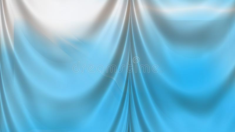 Abstract Blue and White Silk Drapery Textile Background. Beautiful elegant Illustration graphic art design royalty free illustration