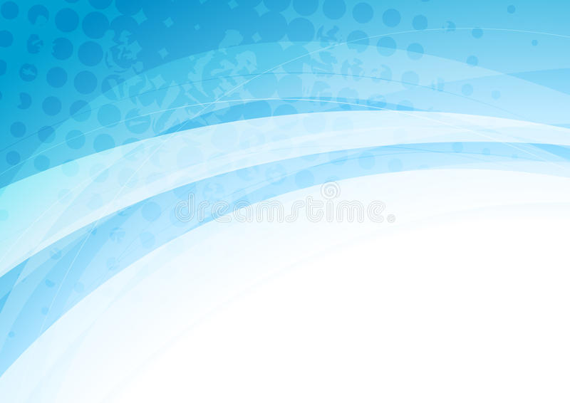 Abstract blue white waves grunge background. Abstract blue white waves grunge vector background stock illustration