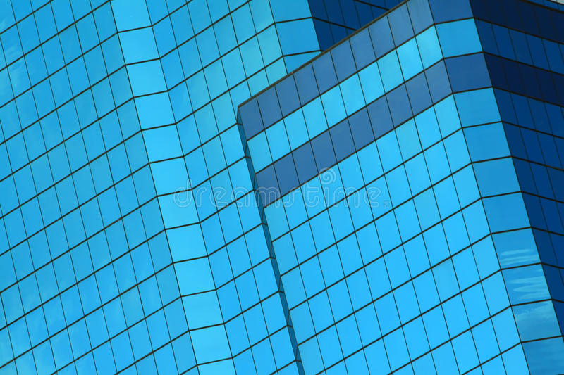 Abstract blue windows of building stock images