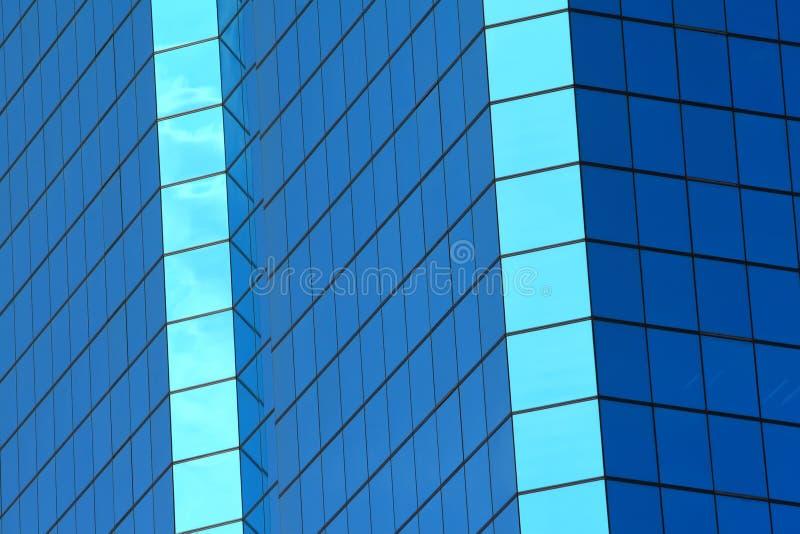 Abstract blue windows of building stock photos