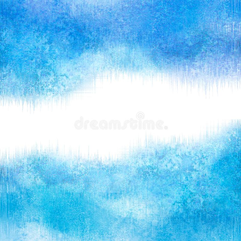 Abstract blue winter frost snowy icy background. Happy new year and merry christmas concept stock photo