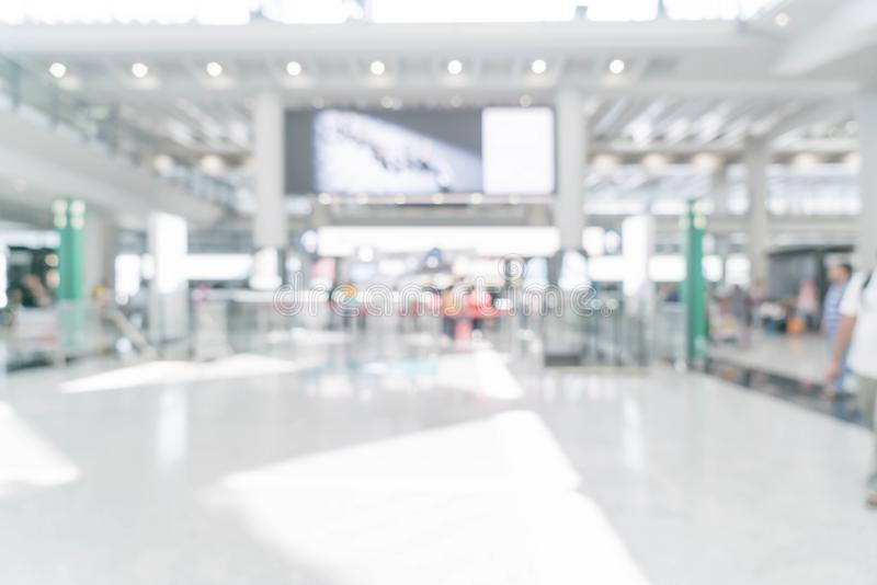 abstract blur in airport stock photography