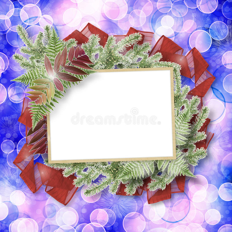 Abstract blur boke background with paper frame stock illustration