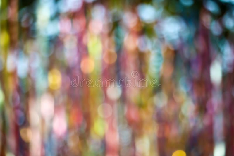 abstract blur of colorful ribbon rainbow on ceiling royalty free stock image