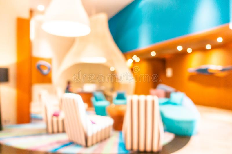 Abstract blur and defocus lobby decoration in hotel royalty free stock images