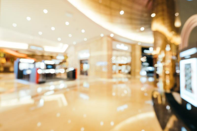 Abstract blur and defocused beautiful luxury shopping mall of deparment store. For background stock images