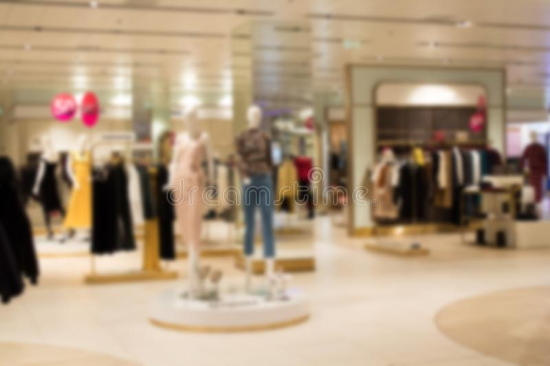 Abstract blur and defocused beautiful shopping mall of deparment store for background. Abstract blur and defocused beautiful shopping mall of deparment store stock photography