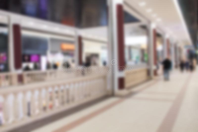 Abstract blur and defocused beautiful shopping mall of deparment store for background. Abstract blur and defocused beautiful shopping mall of deparment store royalty free stock photos