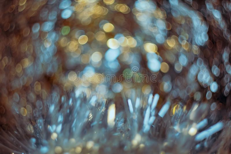 Abstract blur and defocused crumpled foil texture for background. Artistic colorful bokeh. stock illustration