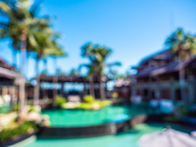 Abstract blur and defocused hotel and resort background. For travel and vacation royalty free stock photos