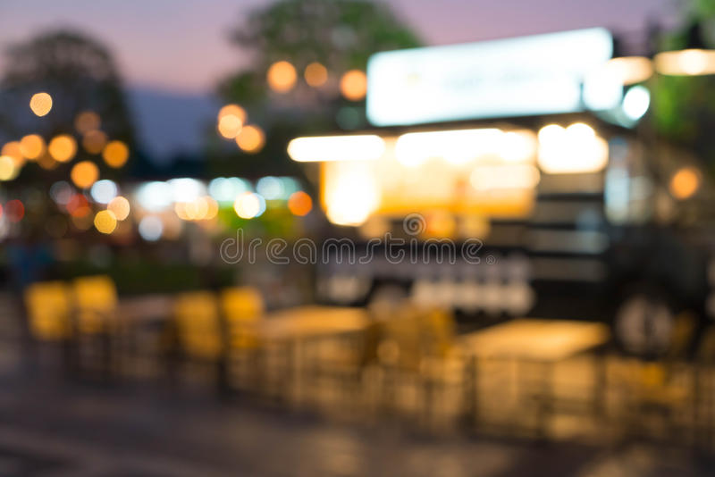 Abstract blur food truck. For background royalty free stock images