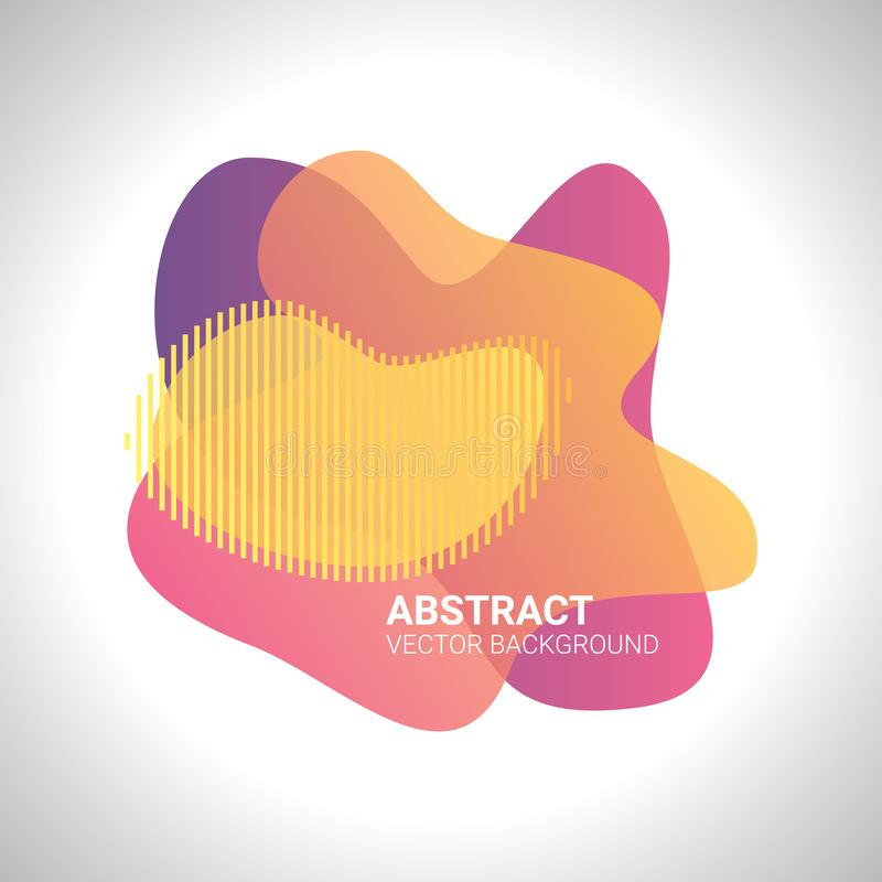 Abstract blur free form shapes color gradient. Fluid organic colorful shapes. Colors effect soft transition,  illustration eps10. Abstract background royalty free illustration