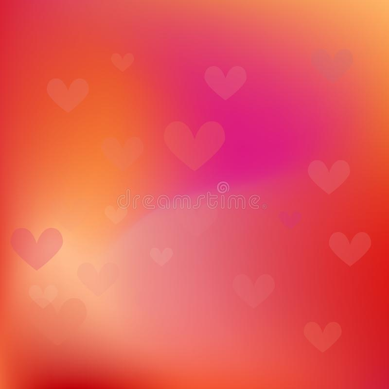 Abstract blur gradient background with trend pastel red, orange, yellow and maroon colors for deign concepts, wallpapers royalty free illustration