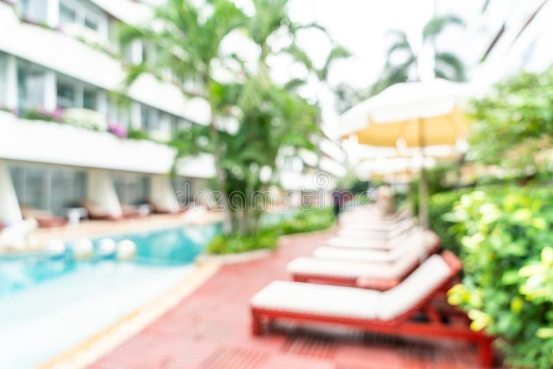 Abstract blur in hotel resort. For background royalty free stock photo