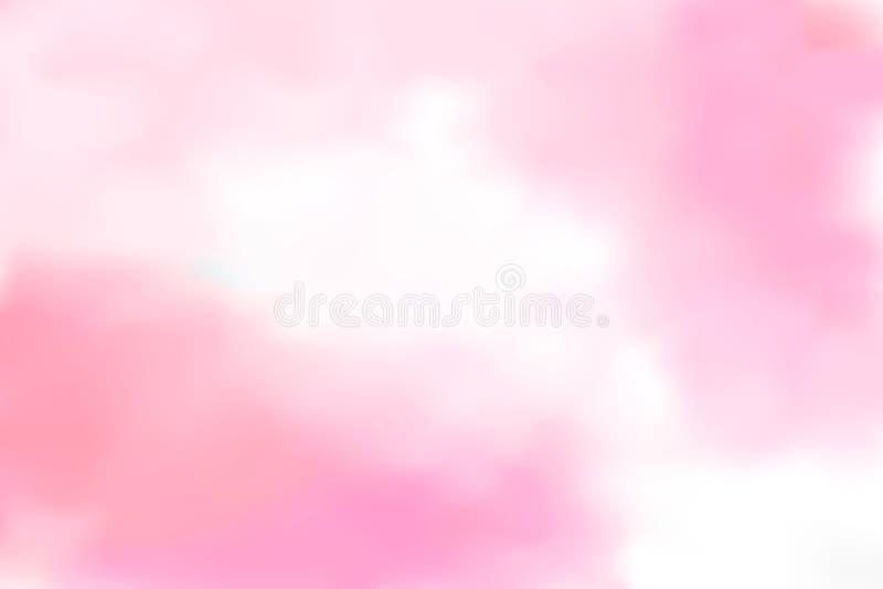 Abstract blur light gradient pink soft pastel color wallpaper ba stock illustration