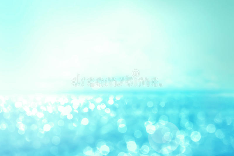 Abstract blur light on the sea and ocean background for summer s stock photos