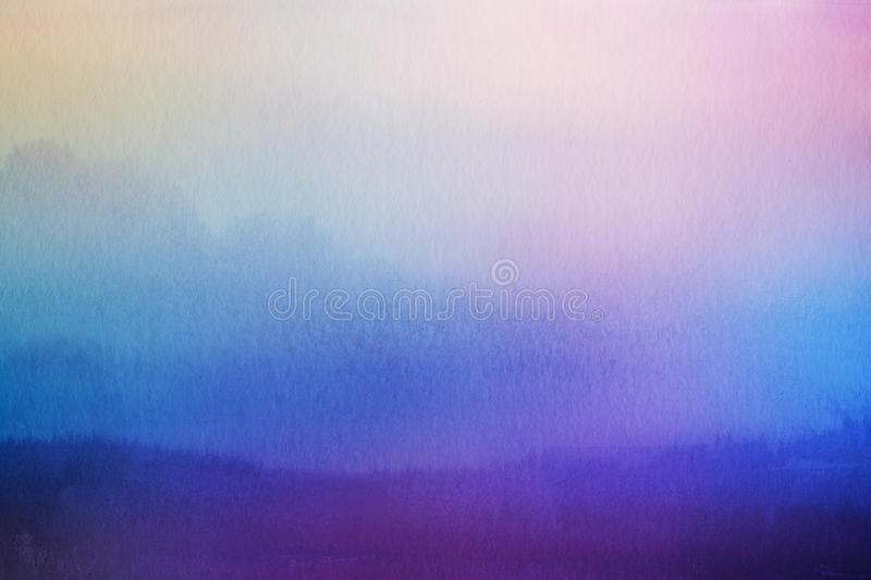 Abstract blur nature background. Watercolor overlay. Abstract blur nature background. Watercolor paper overlay stock image