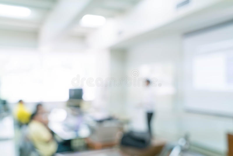 abstract blur people study or lecture or meeting or do workshop stock image