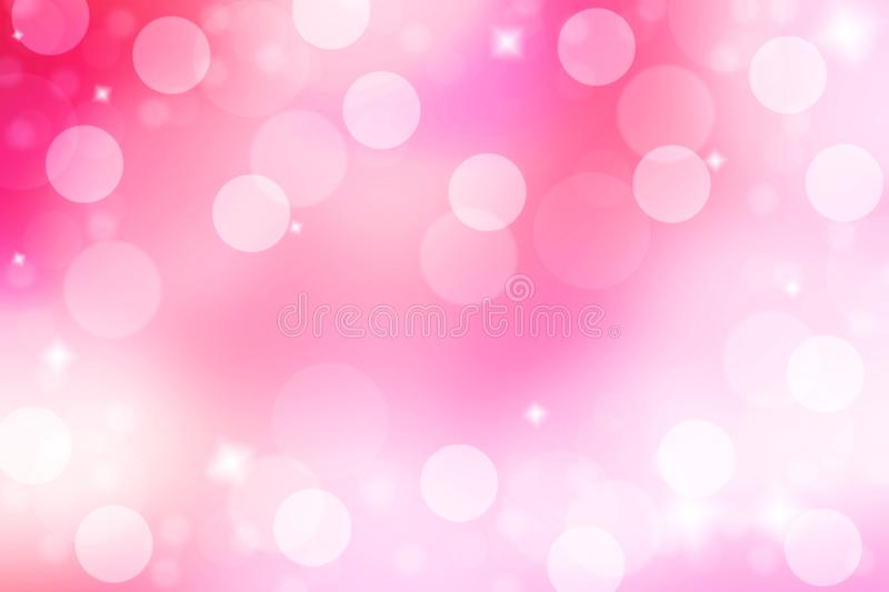 Abstract and blur pink background. Pink background with bokeh an. D shiny color effect. Sweet and love emotion. Useful for valentine event stock images