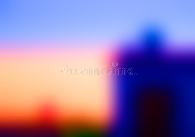 Abstract blur red, blue and orange colors background for design.  stock photography