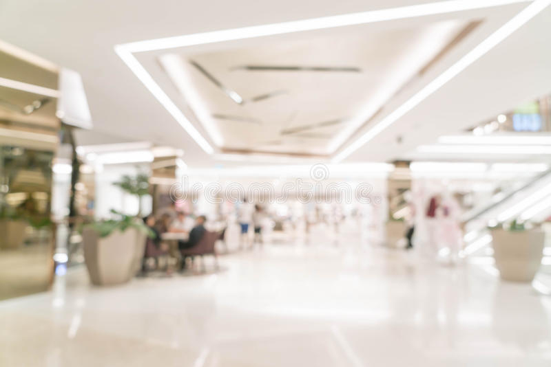 abstract blur retail store in luxury shopping mall royalty free stock image