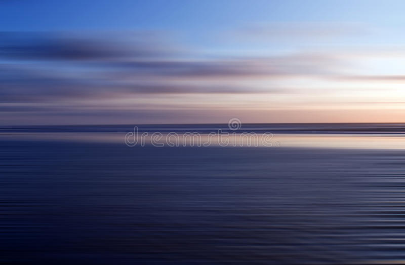 Abstract blur seaside stock image