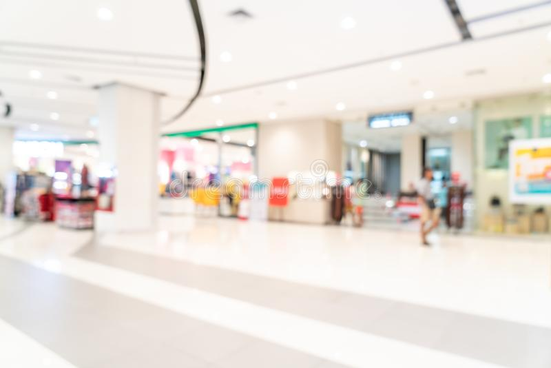 Abstract blur shopping mall. For background stock photos