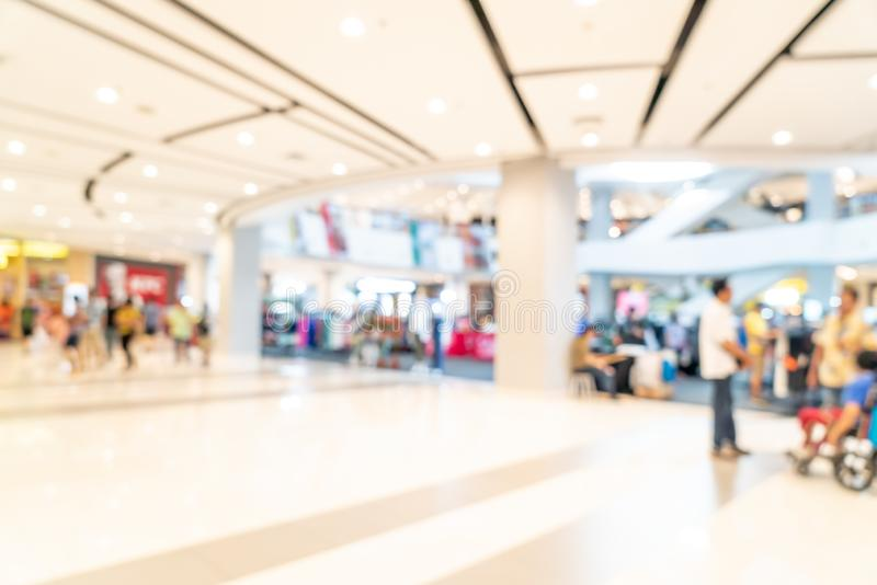 Abstract blur shopping mall. For background royalty free stock photography