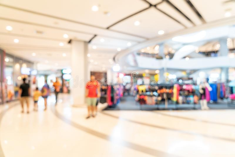 Abstract blur shopping mall. For background stock photo