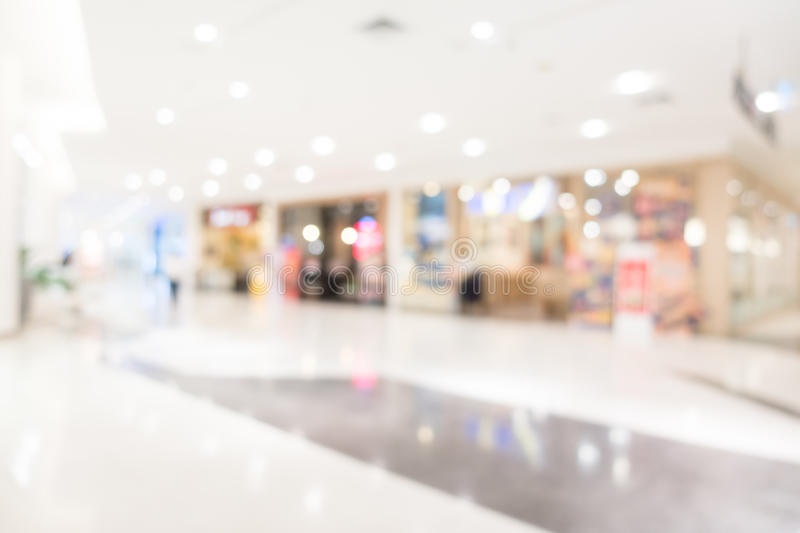 Abstract blur shopping mall. And department store interior for background stock photo